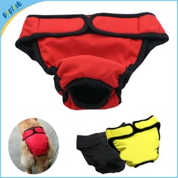 Wholesale Dog Nappies - Free Shipping Small Wholesale Washable Female Dog Sanitary Nappy Diaper Pet Cloth Underwear XXL Size Dog Pant