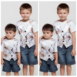 Wholesale Boys Formal Wear Orange - Snowfall White Camo Vest Kids Formal Wear Boy's Wedding Wear Custom Made With Tie Camouflage Boy Outwear Cheap Wedding Wear