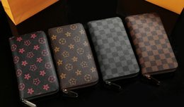 Wholesale Single Card Holder - AS 002 Hot sale! brand men and women long Wallet, classic fashion male patchwork purse with coin pocket &card holder
