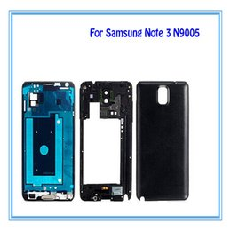 Wholesale Button Frames - New Replacements Full Housing Cover Case for Samsung Galaxy Note 3 III SM-N900 SM-N9005 Middle frame Bezel with Side Buttons + Home Buttons