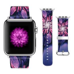 Bande de motif de fleurs d'origine pour Apple Watch Bracelet Bande de cuir 38mm 42mm pour Iwatch Series 1 2 3 Cadeau de sangle pour étui iPhone ? partir de fabricateur