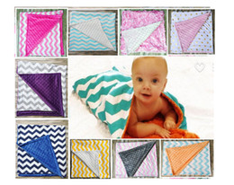 Wholesale Zig Zag Baby Blanket - 2016 European Style Children Cotton blanket baby kids spring qulit infant dot zig zag children's air-condition blankets