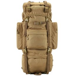 Wholesale 75l Outdoor Bag - 70L Large capacity Metal Steel Frame Bag Men's New Military Backpack Outdoor Sport Waterproof Nylon Backpacks Free Shipping