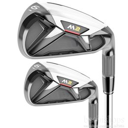 Wholesale Dynamic Gold Shafts Set - New mens Golf Clubs irons M2 Golf irons set 3-9 P S irons Clubs dynamic gold R300 golf steel shaft set Free shipping