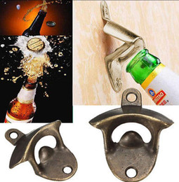 Wholesale glass cook - Bottle Opener Stainless Steel Wall Mount Bar Beer Soda Glass Cap Bottle Opener Cooking Tools Kitchen Wedding Party Supplies KKA2840