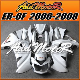 Wholesale Kawasaki Gift - Big Sale Fairings Addmotor Best Chioce Compression Mold ABS For Kawasaki Ninja 650R ER-6F 2006-2008 All White K6618 +5 Free Gifts