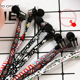 Wholesale Trend Shoes Wholesale - 2017 new arrive Creative Trends Graffiti Design Braided Wiring Headphones Overweight Bass Phone Universal Talking Shoes In-Ear Earphone