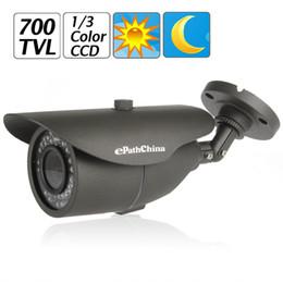 Wholesale Effio Dome Cameras - 1 3 Inch Sony Effio-E Color CCD 700TVL 3.6mm Lens OSD Menu Dome CCTV Camera Built-in auto electronic shutter function