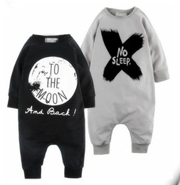 Wholesale Long Sleeve Bodysuit 12 Months - 2017 INS Boys Girls Baby Jumpsuits NO SLEEP Rompers Clothing Summer Spring Autumn Toddler Romper Onesies Boutique Infant Bodysuit Clothes