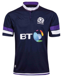 Wholesale Heat Jerseys - 2017 2018 Rugby jerseys World Cup Scotland Country new High-temperature heat transfer printing jersey Rugby Shirts