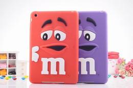 Wholesale Silicon Bean Case - 2016 low price For ipad mini 3D Cartoon M Defender Rainbow Bean Smile Soft Silicone case for ipad mini 123 Tablet Accessories