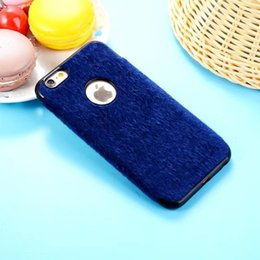 Wholesale Iphone Winter Cover - New Fashion luxury Fashion Winter Solid Color Villus Plush Nap Stuffed Soft Back Case for iphone X 6 6s 7 8 Plus Phone Cover