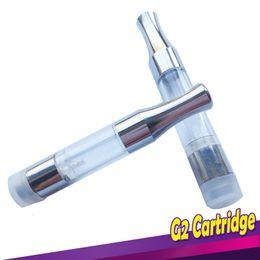 Cartouche G2 DERNIÈRES Chrome Metal Tip de qualité alimentaire Tube en plastique transparent Metal CE3 Vaporisateur Huile de cire aucune fuite pour Bud Touch Vaporisateur Pen ? partir de fabricateur