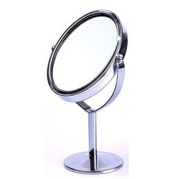 Haute Qualité Femmes Forme Ovale Maquillage Miroir Double Double Côté Rotation Cosmétique Bureau Stand De Table Miroir Maquillage Compact Miroir ? partir de fabricateur