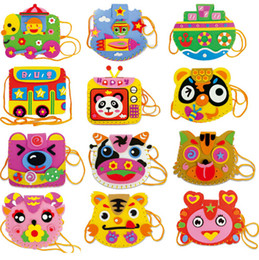 Wholesale Hand Sewing Toys - Wholesale-EVA Cartoon Handmade Bags DIY Hand sewing Educational Toys for Children