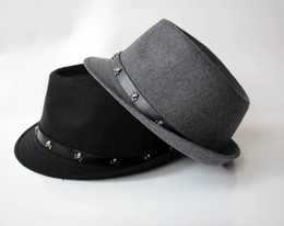 Wholesale Christmas Novelty Fabric - Han Edition Autumn Winter Hats Thick Woolen Cloth Fabric Hip-hop Jazz Caps Lovers Hats 5pcs lot Wholesale