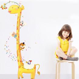 Wholesale Giraffe Growth Chart - 180cm Growth Charts Wall Sticker Nursery   Kid's Room Home Decor Fashionable Creative Giraffes Wall Stickers 60*90cm Free Shipping