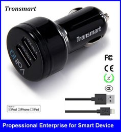 Wholesale Input Output Voltage - Car charger for cellphoneTronsmart TS-CC2P 2 Ports USB charge Smart VoltIQ Input 12V 24V Output 5V 2.4A