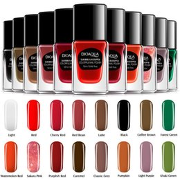 Wholesale Color Gels Nail Glitter - Women Beauty Cosmetic Makeup Lady Candy Color Glitter Gel Nail Polish Fingernail Lacquer Art Decoration Water Strippable Long Lasting