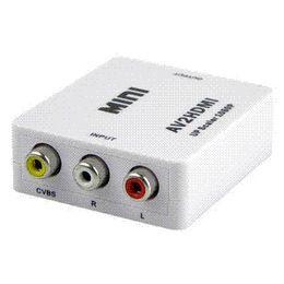Argentina Nuevo HD Video Adaptador CVBS a HDMI Mini AV a HDMI Converter 1080 P AV2HDMI convertidor de señal para TV, VHS VCR, DVD envío gratis Suministro