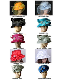 Wholesale Fascinator Dress - All Year Around Church Dress Formal Hat wedding Kentucky Derby Hat hair fascinator with Rhinestones band.