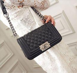 Wholesale Plaid Chain Bags - 2016 Fashion Woman Bag Promotional Ladies luxury PU Leather Handbag Chain Shoulder Bag Plaid Women Crossbody Bag