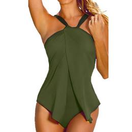 Wholesale Xxl Monokini - Wholesale- 2017 Bikini swimwear women One Piece Swimsuit Monokini Padded Tankini XXL XXXL Plus Size Women One-Piece Suits EA14