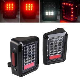 Wholesale Led Jeep Tail Lights - LED Tail Lamp Replacement Tail Lights Brake Reverse Lamps for 2007-2015 Jeep Wrangler JK turn signal light,brake light