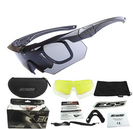 Wholesale Ess Glasses - ess crossbow Crossbow U.S. military bulletproof glasses goggles E4 version of outdoor spectacles 3 sets of myopia frame crossbow
