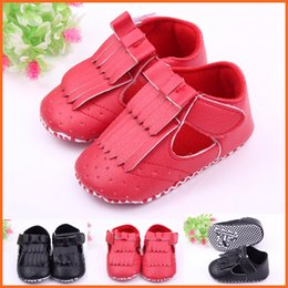 Wholesale 12 Decks - New Arrival Wholesale Soft PU Leather Hook & Loop Double-deck Tassels Upper Toddler Baby Walking Shoes Casual Shoes For Girl Non-slip