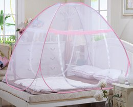 Wholesale Mongolia Mosquito Nets - Mongolia nets package free installation of students without bottom single double folding mosquito net with magic nets
