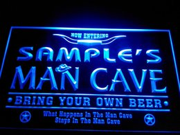 Wholesale Neon Restaurant - DZ003-b Name Personalized Man Cave Cowboys Bar Neon Beer Sign