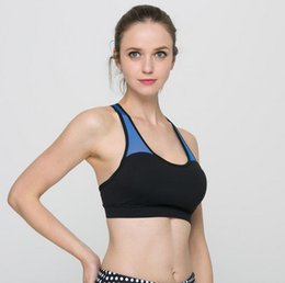 Wholesale Cheap Women S Bras - Cheap Two Tone Wireless Sports Bra With Removable Pads Wome's Perfect Yoga Bra