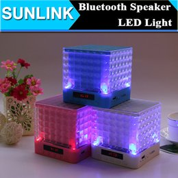 Wholesale Horn Subwoofer - Colorful LED Flash Bluetooth Mini Speaker 10w Horn Big Sound Portable Wirelss Subwoofer Handsfree MIC Music Player Soundbox TF USB Support