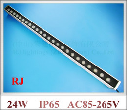 Wholesale G Light Led Wall - high power 24W LED wall washer light lamp LED staining light bar light flood light AC85-265V RGB CW WW R Y B G 24LED 24W