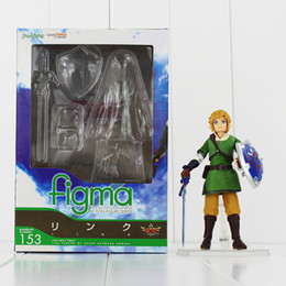 Wholesale Collections Link - The Lengend Of Zelda Link with Skyward Sword Figma 153 PVC Action Figure Collection Model Kids Toy