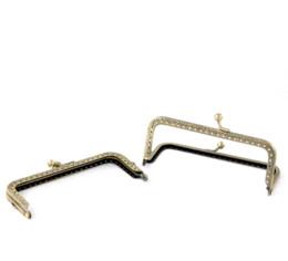 Wholesale Wholesale Purse Parts - 2 Bronze Tone Purse Bag Metal Frame Kiss Clasp Lock 12.7x6.6cm Bag Parts & Accessories