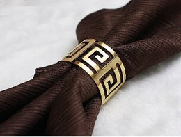 Wholesale Western Napkins - Wholesale 2016 New Hot Sale Western Chinese Continental hollow pattern buckle napkin ring mouth cloth buckle