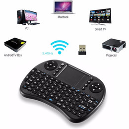 2019 m8s s812 caja de tv android 2016 Mini i8 teclado inalámbrico 2.4 GHz letras rusas Air Mouse Control remoto Touchpad para Android TV Box Notebook Tablet Pc