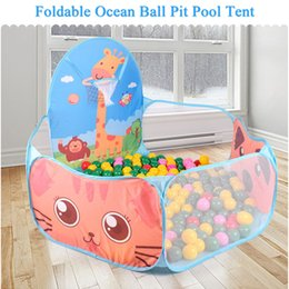 Wholesale Play Playhouse - Wholesale-Foldable Kids Children Ocean Ball Pit Pool Game Play Toys Tent Hut Outdoor Indoor Play Tent Toy Kids Playhouse Tents Child Gifts