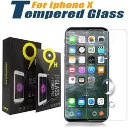 Wholesale Huawei Mate Film Protector - For iPhone X 8 Tempered Glass Screen Protector For Huawei Honor 5X Mate 9 Pro Mate 10 P8 Lite P10 Protective Film Guard With Retail Package