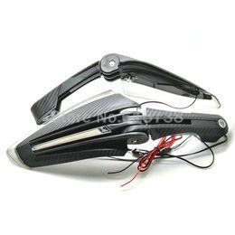 kawasaki ninja pára-brisas Desconto Universal Motocicleta Handguards com LED em execução Luz Protetores de Mão Protetores de Moto Para ATV DIRTBIKE MX 28mm 22mm guiador