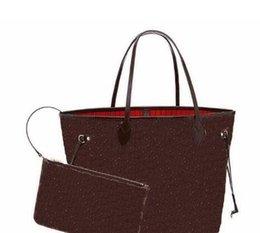 Wholesale Fashon Bags - women messenger bags bolsos mujer neverfulll bag Highest quality bag Designer women genuine leather handbags with little bag fashon tote