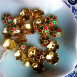 Wholesale Thailand Amulets - [produced] bell into wholesale Thailand Gold Enamel cap amulet receptacle accessories DIY beads accessories
