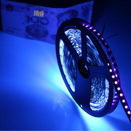 led-streifen für aquarium Rabatt Wholesale-High Helligkeit 1 / 5m UV-UV 395-405nm LED-Lichtstreifen DC12V 5050 60leds / m lila flexibles Band schwarze Lampe Geld identifizieren