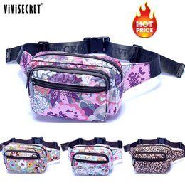 Wholesale Army Belt Pouch - Wholesale- New Designer Waterproof Nylon Women Floral Waist Bum Camera Belt Bag Fanny Pack Hip Purse Money Cell Phone Pouch Christmas Gift