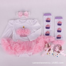 Wholesale High Neck Shoes - 2016 baby headband christmas romper legging shoes newborn girls romper infant cotton onesies jumpsuit clothing summer high quality bodysuits