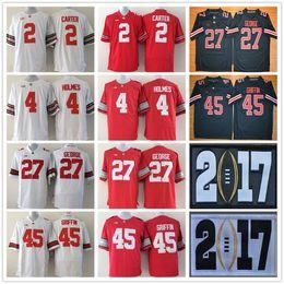 Wholesale Archie Manning Jerseys - Ohio State Buckeyes Football Jerseys College Men 2 Cris Carter 4 Santonio Holmes 27 Eddie George 45 Archie Griffin 8th Championship