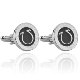 Wholesale French Business Letters - 2016 Greek letter ohm flag cufflinks gentleman cufflinks French shirt cuff nail business For Mens or father's Cuff Links zj-0903782
