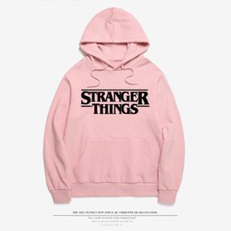 Wholesale Clothes Drop Shipping - Stranger Things Sweatshirt New 2017 Women Cotton Clothes Stranger Things Hoodie Sweatshirts Fashion Tops Pink Color Drop Shipping